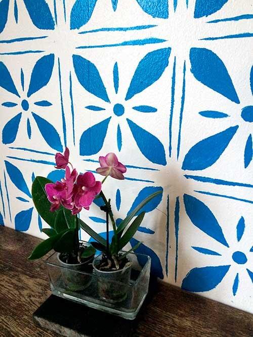 køkken illustration på væg