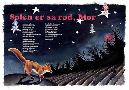 Plakater med børnesange – Barnedåbsgave eller barselsgave