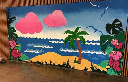 Vægillustration til Ungdomskole