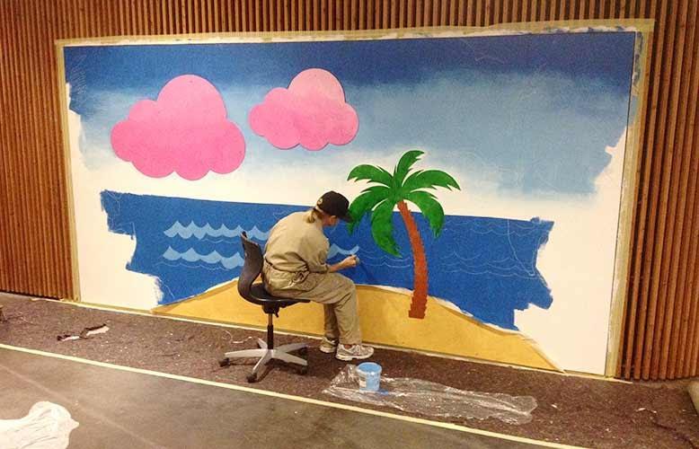 Vægillustration